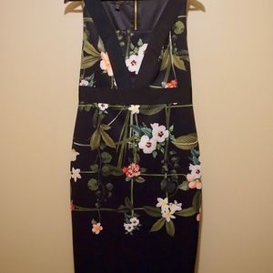 e7853208869e6f Ted Baker London Dresses - Ted Baker Black Kacied Secret Trellis Midi dress
